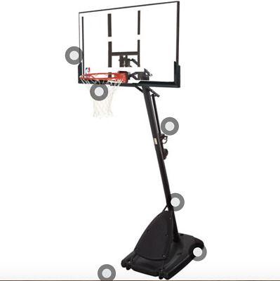 Advertisement Ebay Spalding Nba 54 Portable Angled Basketball Hoop With Polycarbonate Backboard In 2020 Basketball Hoop Basketball Rim Basketball
