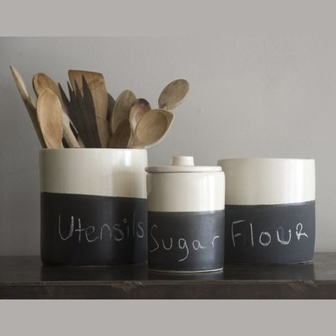 Cute kitchen canisters @Giada #kitchen