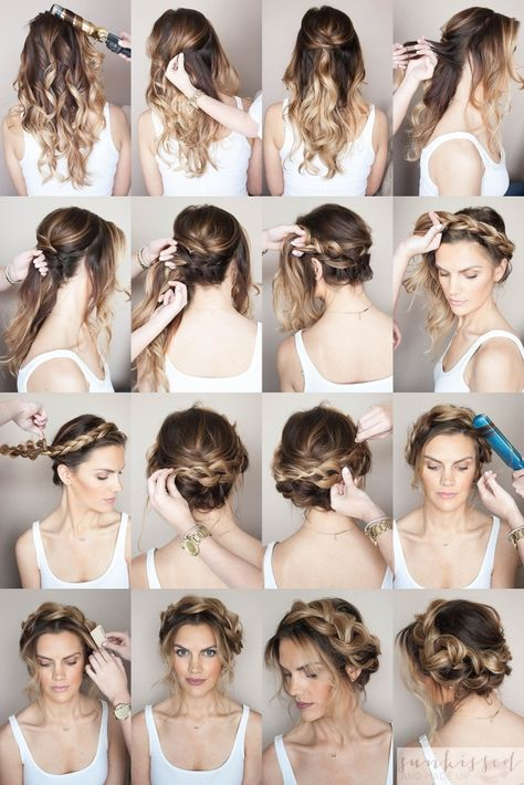 Crown Braid/Halo Braid  Braided Hair Tutorial // SKMU // Blog Tutorial // Hair…
