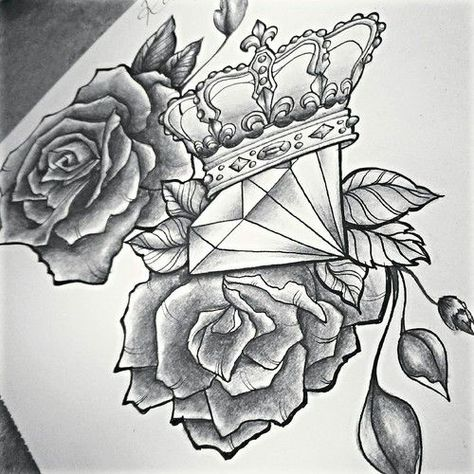 Roses And Diamond Tattoo Google Search Tattoos3 Tattoos
