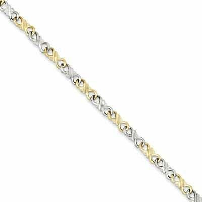 Ebay Ad Versil 10 Karat Two Tone Solid Polished Fancy Bracelet Fine Jewelry Gift Jewelry Fine Jewelry