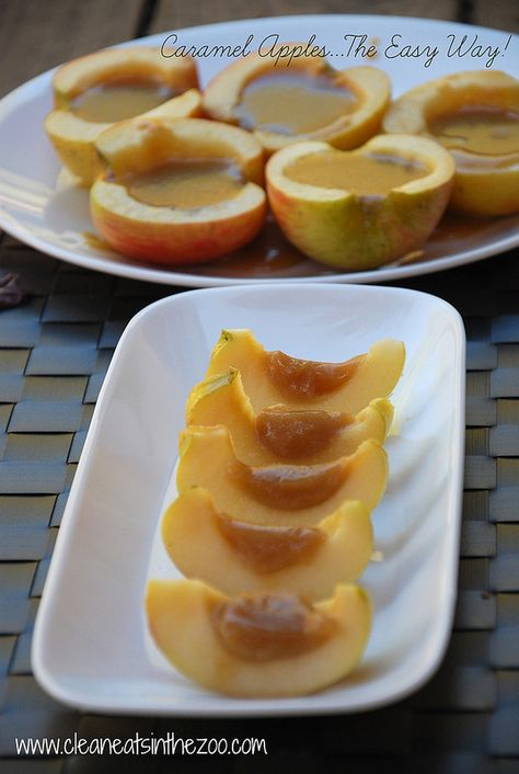 Caramel Apples...The Easy Way! (Made with whole ingredients)- Clean Eats in the Zoo