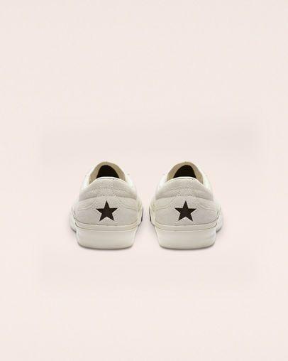 One Star CC Suede Egret/Black/Black