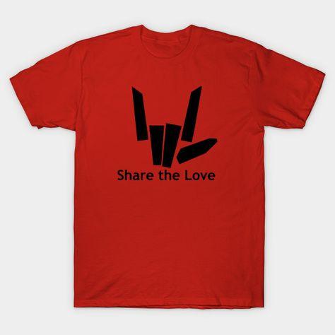 Share The Love T-Shirt You Tube Trending Tee Boys /& Girls