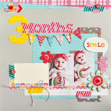 #papercraft #scrapbook #layout #Baby Kodak Moments--Ginger Williams