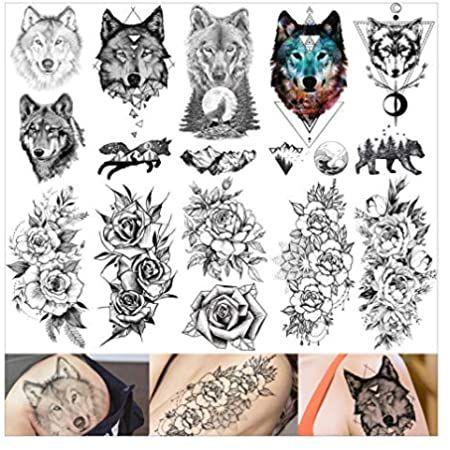 Pin On Wolf Tattoo Design