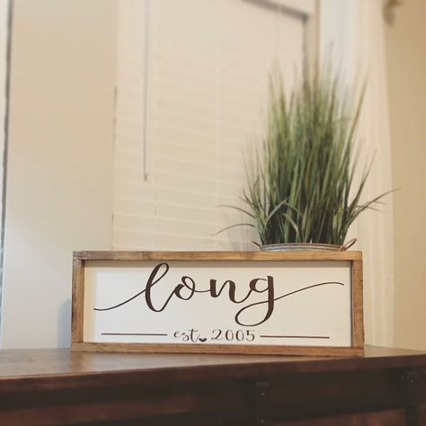 Want a frame around your last name sign?! We can do that, too! | For ...