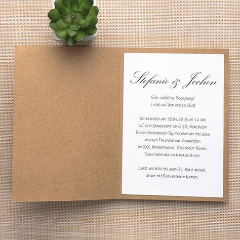 Kraftpapier Spitze Hochzeitseinladungskarte Mit Jute Band Opl054