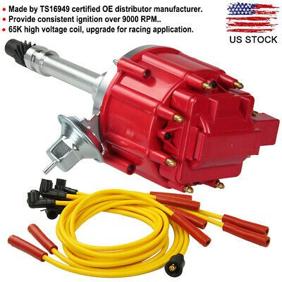 Ad Ebay Chevy Sbc Bbc 305 350 Hei Distributor 65k Spark Plug Wire Ignition Combo Kit New In 2020 Chevy Ignition System Cars Trucks