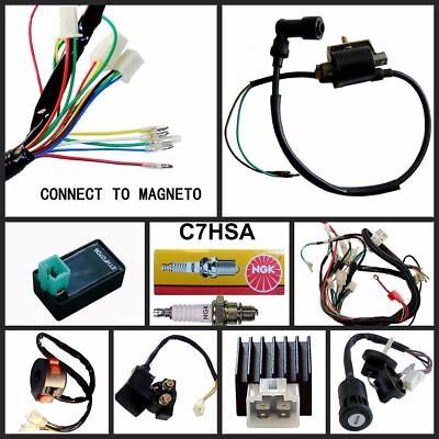 Details About Electrics Wiring Loom Cdi Solenoid 50cc 70cc 90cc