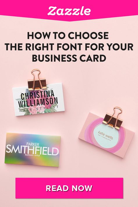 How to Choose the Right Font For Your Business Card - Zazzle