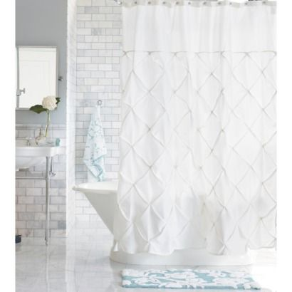 Threshold Shower Curtain White This Is What We Can Use As A Compromise Not Too Man Bathroom Shower Curtains White Shower Curtain Farmhouse Shower Curtain