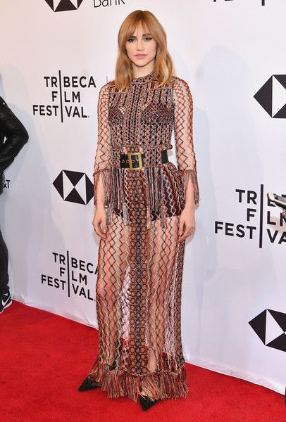 Suki Waterhouse attends a screening of 'Jonathan' during the 2018 Tribeca Film Festival.