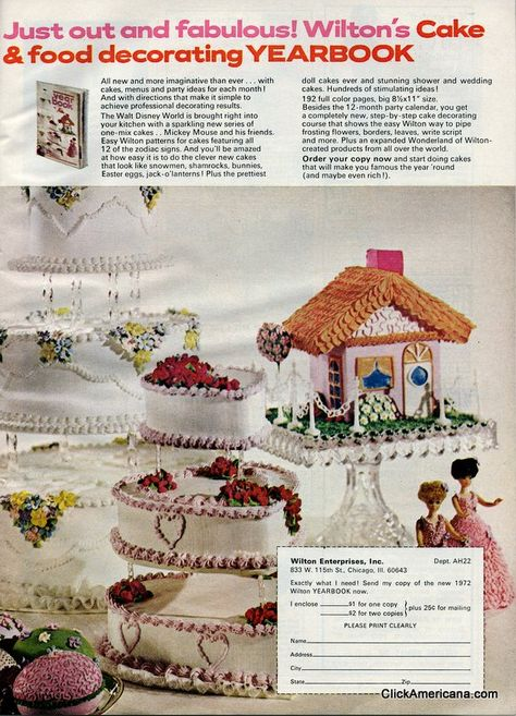 From Wilton cake decorating in the 1970s at ClickAmericana