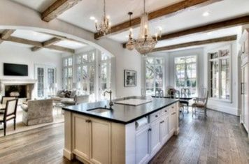 House Beautiful Kitchens Open Concept Floor Plan For Kitchen