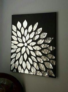 Manualidades Con Papel De Aluminio Y Latas De Aluminio Para Reciclar Kena Como Hacer Cuadros Arte En Tela Para Las Paredes Arte Con Papel De Aluminio