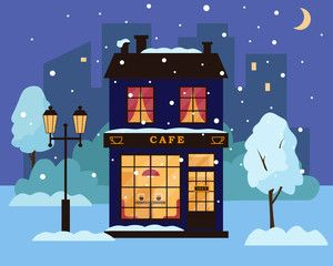 Winter Park Christmas 2020 Cafe or restaurant building in winter park. , #AD, #restaurant