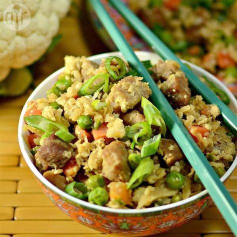 Arroz De Couve Flor Frito Receita Receitas Chinesas Saudaveis