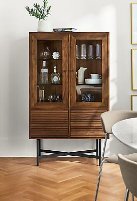 Fabulous Adrian Glass Door Cabinet Cupboard In 2019 Glass Cabinet Interior Design Ideas Apansoteloinfo