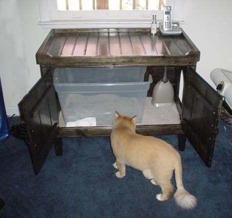 cat litter furniture - Google Search
