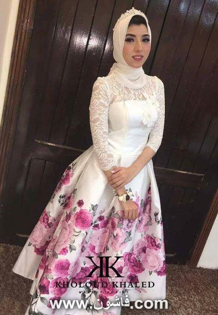 فستان سواريه موضة 2017 للمحجبات اجمل صور فساتين Pink
