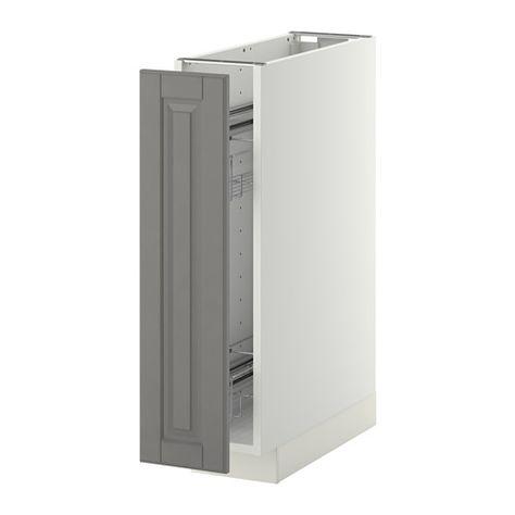 METOD Unterschrank+ausziehb Einrichtg - Bodbyn gray, know - IKEA