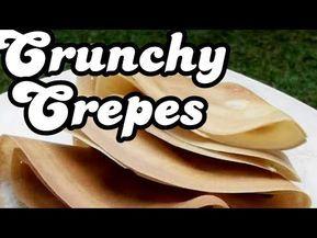 Resep Cara Membuat Kue Crepe Renyah Crunchy Crepes Recipe Youtube Crepes Crispy Crepe Recipe Crepe Recipes