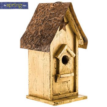 Birdhouse With Star Bird Houses Outdoor Bakers Rack New Crafts