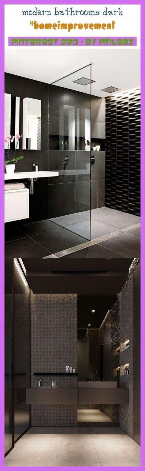 Moderne Badezimmer Dunkel Modern Badezimmer Modern Badezimmer Dunkel Badezimmer In 2020 Modern Bathroom Remodeling Mobile Homes Modern