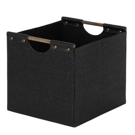 Better Homes And Gardens Woven Storage Bin Brown Durable Construction