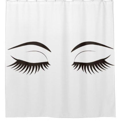 Trendy Chic Girly Eyelashes Long Beauty Shower Curtain Zazzle