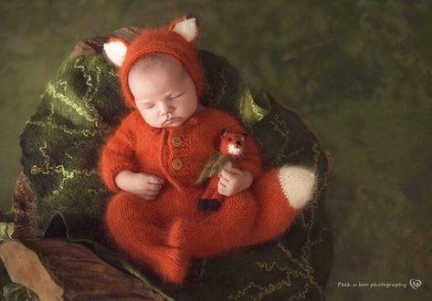 Newborn knit Angora Romper Bonnet Fox. Angora Toy Fox. Photo prop Angora Hat.  Newborn Fox. Fox rompe ecb566c6c2f7