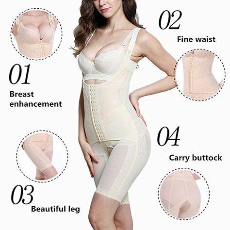 Alicecoco Damen Shapewear Bauch Weg Taillenformer Schlank Body