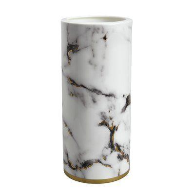Prouna Marble White Gray 14 Porcelain Table Vase Marble Vase Vase Vases Decor