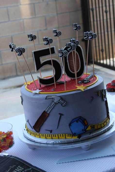 If you need birthday party ideas for men, check out this tool theme bash by Stacy Tucker of Sugar Crush