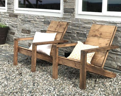Why I Built These Chairs I've been wanting to add some comfortable outdoor seating to our yard in uncovered areas, but it gets to be alot . Patio Chairs, Outdoor Chairs, Outdoor Decor, Garden Chairs, Plans Chaise Adirondack, Wood Adirondack Chairs, Chaise Diy, Patio Diy, Diy Terrasse