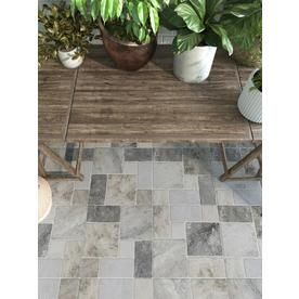 Style Selections Verona Gray 20 In X 20 In Porcelain Cobblestone