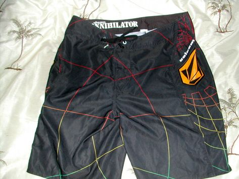 Men's Med 32VOLCOMANNIHILATOR Board Shorts POLY EmbroideredScreened Tags EUC #fashion #clothing #shoes #accessories #mensclothing #swimwear (ebay link)