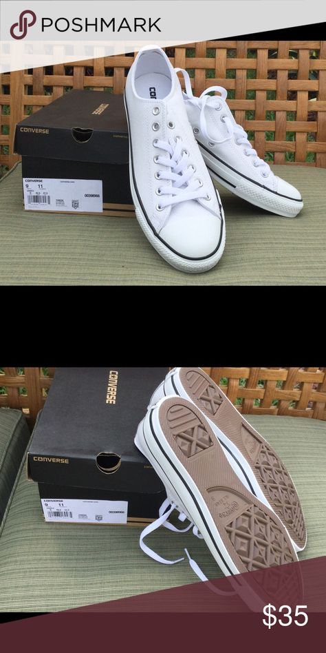 NWT size 9 off white leather converse NWT