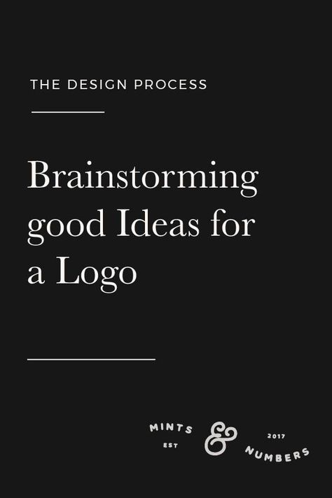 Brainstorming Good Ideas for a Logo – Maiden Studio