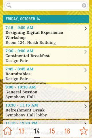 Inscape Designs Graphic Design Conference Agenda Design
