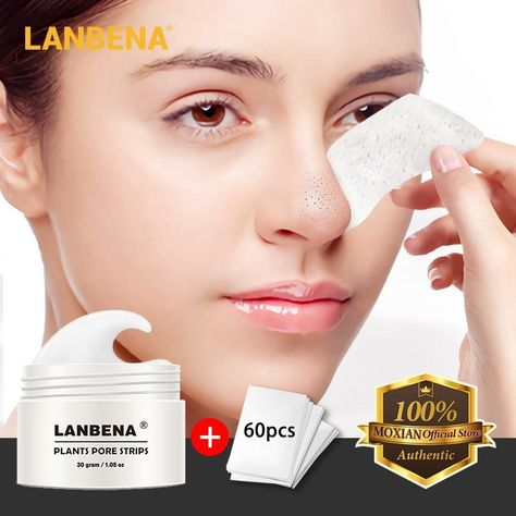 New LANBENA Unisex Blackhead Remover Nose Face Mask Pore Strip Black Mask Peeling Acne Treatment Black Deep Cleansing Skin Care-in Treatments & Masks from Beauty & Health on AliExpress