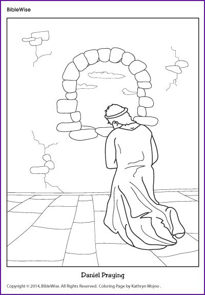 Daniel Bible Story Coloring Page Escolinha Dominical Stories And Sunday School