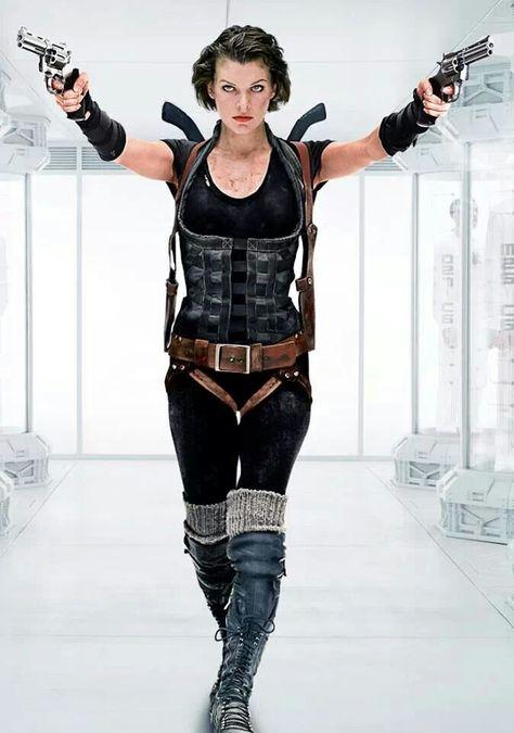 "Alice ""Milla Jovovich"" Resident Evil: Afterlife (2010) #ResidentEvil #WarriorWoman"