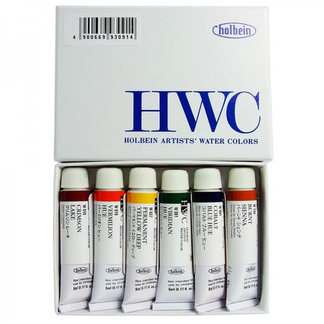 Holbein Artists Watercolur Paint 5ml Introductory Set Of