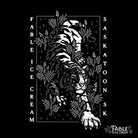 Tiger prowl illustration tattoo design t-shirt