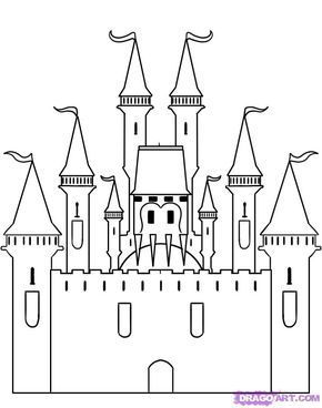 How To Draw A Castle By Dawn Castle Drawing Disney Castle