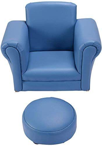 New Costzon Kids Chair Ottoman Set Rocking Function Blue Online