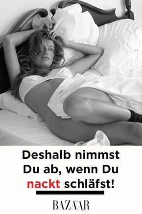nackt fett schlafen