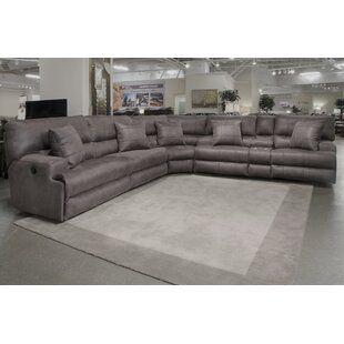 Orren Ellis Hennigan Leather Sectional Wayfair In 2020 Leather Reclining Sectional Reclining Sectional Sectional Sofa With Recliner